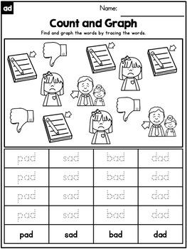 -ad CVC Word Family Word Work