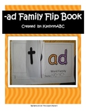 -ad Family Flip Book (Kindergarten & First Grade) Short A