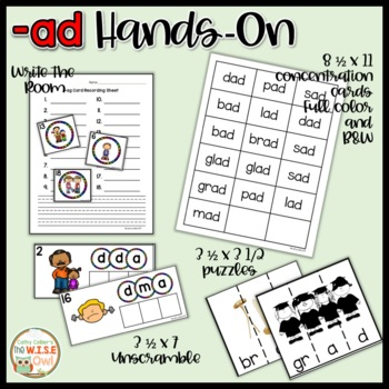 -ad Word Family Activities