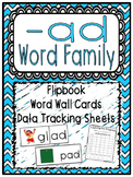 -ad Word Family Flipbook, Word Wall Cards and Data Tracking Sheets!