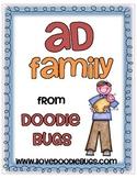 -ad Word Family Mini Unit
