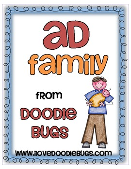 ad Word Family Mini Unit by Doodle Bugs Teaching | Teachers Pay ...