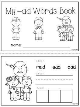 -ad Word Family Pack