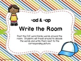 -ad & -ap Word Family Write the Room