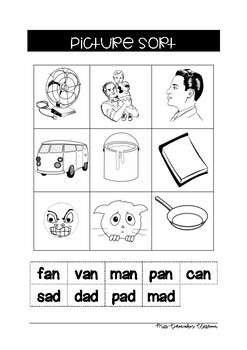 ad an word families spelling activities