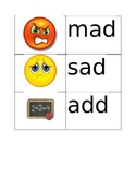 -ad word family flash cards with pictures