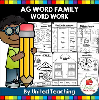 -ag CVC Word Family Word Work