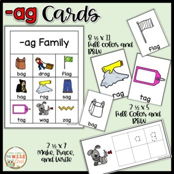 -ag Word Family Activities