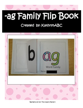 -ag Family Flip Book (Kindergarten & First Grade) Short A