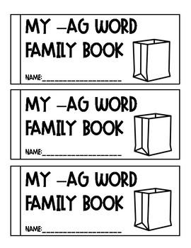 -ag Word Family Book