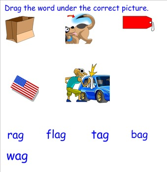 -ag Word Family Smartboard Activities