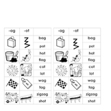 -ag & -ot Word Families (for Word Work or Centers)