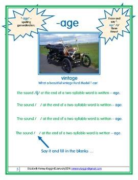 """-age"" Multisensory Lesson"