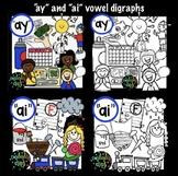 """ai"" and ""ay"" vowel digraph clip art"