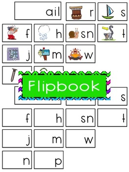 -ail Word Family Flipbook, Word Wall Cards and Data Tracking Sheets!