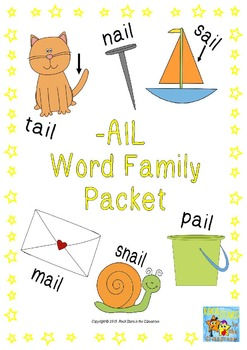 -ail Word Family Packet