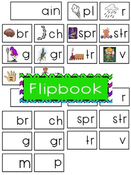 -ain Word Family Flipbook, Word Wall Cards and Data Tracking Sheets!