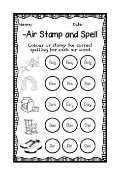 -air Phonics Spelling