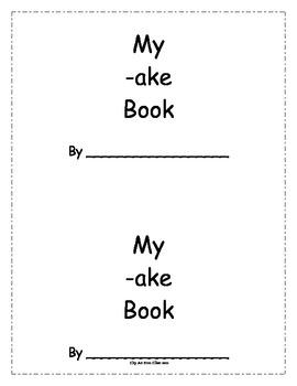 -ake Word Family Book