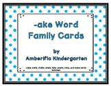 -ake Word Family Cards