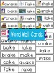 -ake Word Family Flipbook, Word Wall Cards and Data Tracking Sheets!