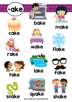 Ake Word Family Games Activities Worksheets By Lavinia Pop
