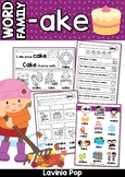 AKE Word Family Games-Activities-Worksheets