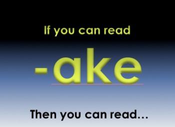 -ake Word Family Powerpoint