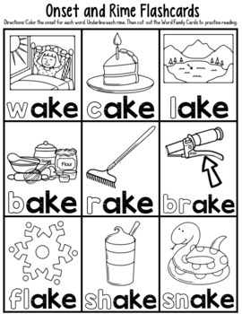 -ake Word Family Worksheets