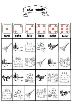 CVCe Roll & Read Word Families