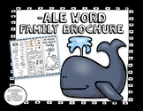 -ale Word Family Brochure -Pamphlet - Word Work! Easy to F