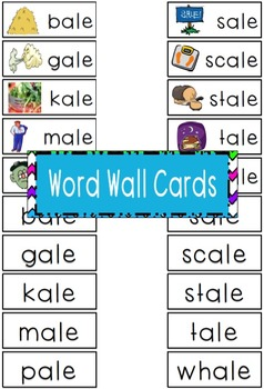 -ale Word Family Flipbook, Word Wall Cards and Data Tracking Sheets!
