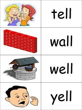 -all, ell, ill  Word Families Memory K-2 (***BONUS*** Bingo)