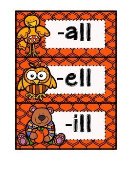 -all, -ill, -ell Sort & Activities