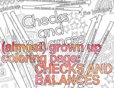 (almost) grown up coloring page: Checks and Balances (US G