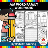 CVC Word Family 'AM' Word Work