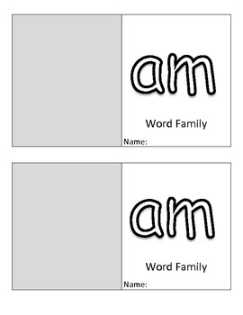 -am Family Flip Book (Kindergarten & First Grade) Short A