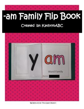 -am Family Flip Book (Kindergarten & First Grade) Short A