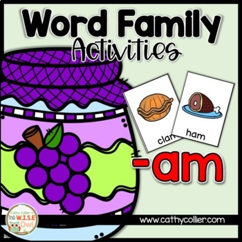 -am Word Family Activities