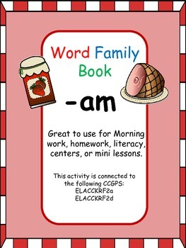 -am Word Family Book