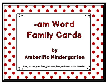 -am Word Family Cards