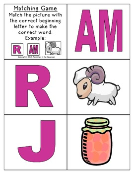 -am Word Family Packet
