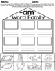 -am Word Family Worksheets