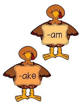 -am,  -ake, -ank, -ack Word Family Sort