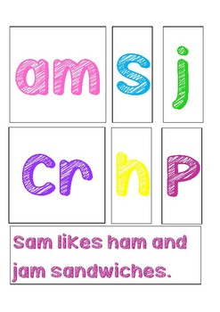 -am sound short sentences and word cards