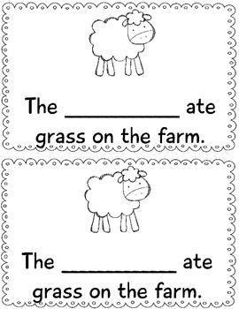 - am word family minibook: cut & paste, word work