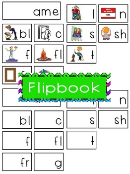 -ame Word Family Flipbook, Word Wall Cards and Data Tracking Sheets!