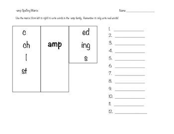 -amp Spelling Matrix
