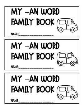-an Word Family Book