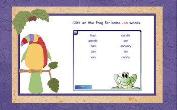 -an  Word Family Chunk Lesson-Smart Board –10 slides-Interactive-Grades PreK-3
